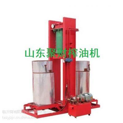 供应大型简易液压榨油机价格,双桶液压压油机器全套多钱,聚财粮油机械
