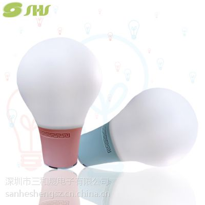 SHS1518广东厂家供应智能情感蓝牙音箱台灯灯泡LED硅胶台灯电子礼品