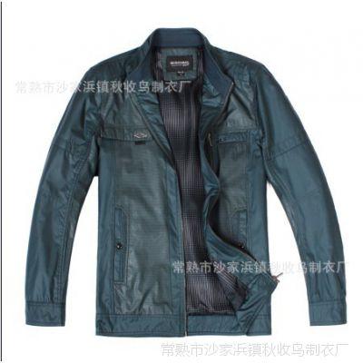 春秋新款男装立领夹克外套  中年男式拼接夹克 男士休闲外套批发