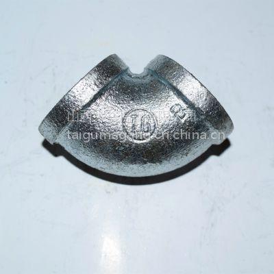 厂家直销 水暖、消防管件 山西太谷玛钢TG牌 热镀锌 弯头DN25