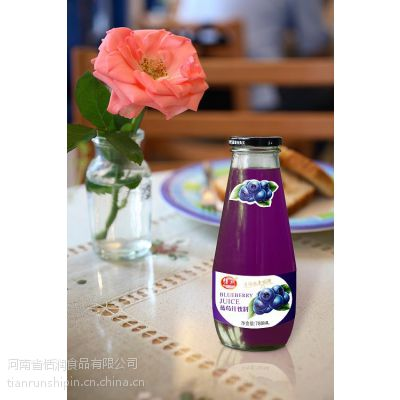780ml草莓汁厂家 恬润玻璃瓶草莓汁饮料