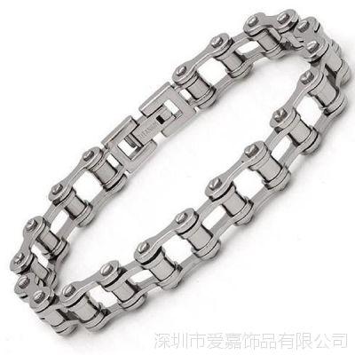 钛钢不锈钢材质 时尚朋克机车手链 欧美尾单厂家亏本销售 包邮
