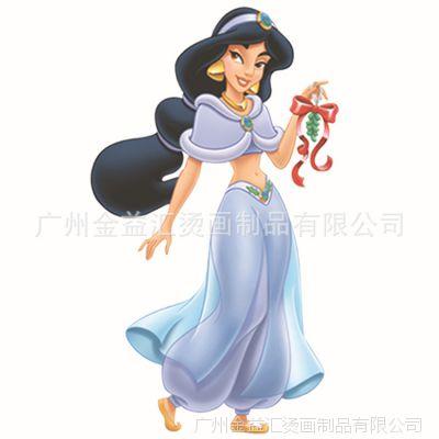 广州热转印烫画厂家 供应服装T恤柯式烫画 迪士尼茉莉公主烫图