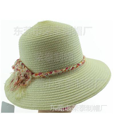 夏季女款大沿帽 女士草帽遮阳大檐帽沙滩太阳帽草编帽子农民风