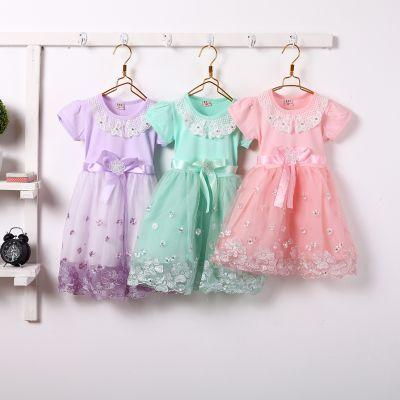 工厂直供10元便宜时尚儿童韩版雪纺蕾丝童裙批发