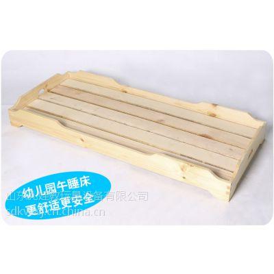 供应幼儿园实木床 双眼木质宝宝午休床 儿童休息专用小床
