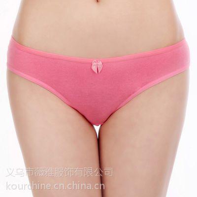 外贸批发女士纯色低腰性感内裤全棉透气丁字裤女式激情诱惑t裤 M/L/XL 57181