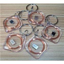 供应JTrfid-8号水晶钥匙扣卡/琥珀卡nfc透明卡
