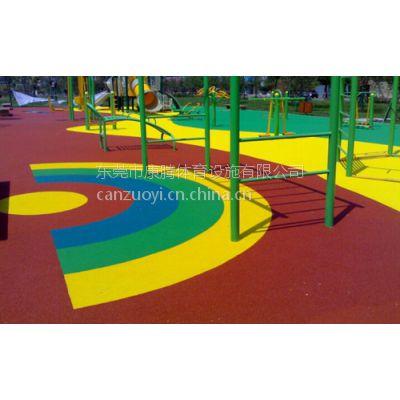 康腾专业制造EPDM安全地胶系列 小区儿童滑梯游乐场 -安全有保障
