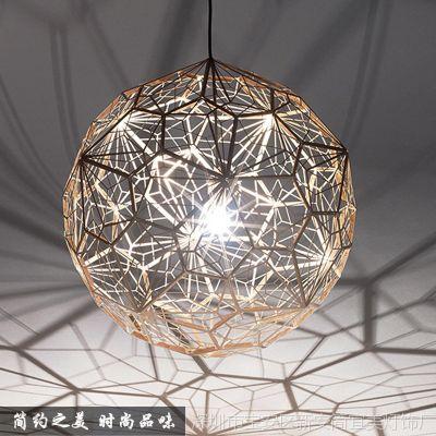 供应新款现代时尚简约不锈钢圆球LED吊灯客厅餐厅灯酒店工程灯饰灯具