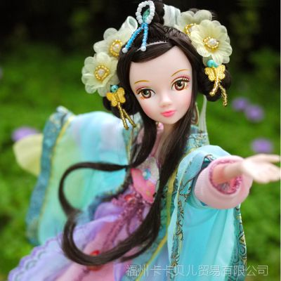 可儿娃娃古装衣服文成公主珍藏版套装礼盒芭比娃娃小女孩玩具