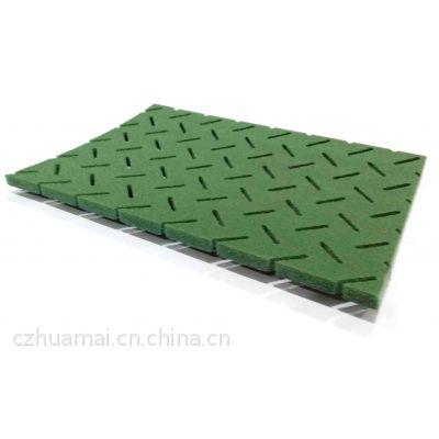 专业生产五人制足球场聚乙烯草坪合成材料减震垫 吸震垫塑料垫 三层三维缓冲垫 弹性地垫 泡沫减震垫