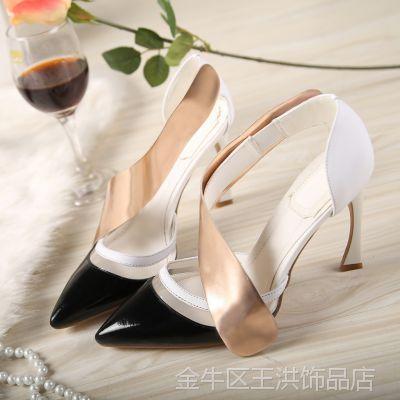 欧美风 2015夏季新品尖头真皮高跟女凉鞋 拼色异形跟女鞋代理X878