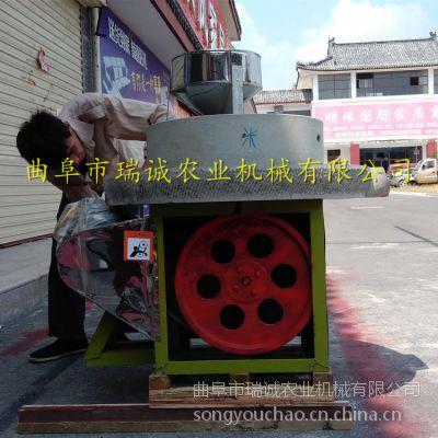 瑞诚40型 电动石磨豆浆机 多用途电动水磨机 调速电机石磨