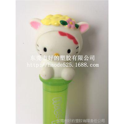 厂家直销 PVC塑胶创意玩具 动漫周边手办模型创意发光笔头公仔