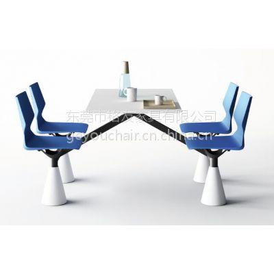 格友家具厂家直销成套时尚餐厅桌椅,PP-G21简约现代塑木餐厅桌椅