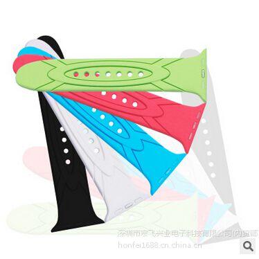 俊奇Jun-Q36 iwatch 苹果硅胶表带 绿色运动健康款式 时尚大方 深圳原厂批发