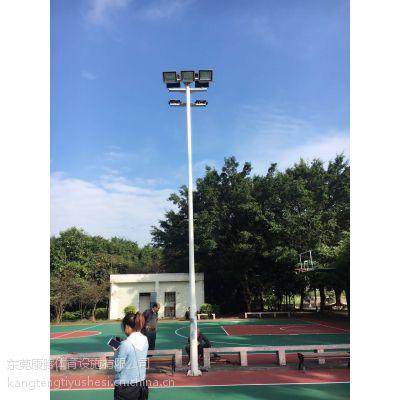 揭阳12米足球场高杆灯定做 篮球场照明灯杆可配灯具 400瓦金卤灯康腾体育厂家