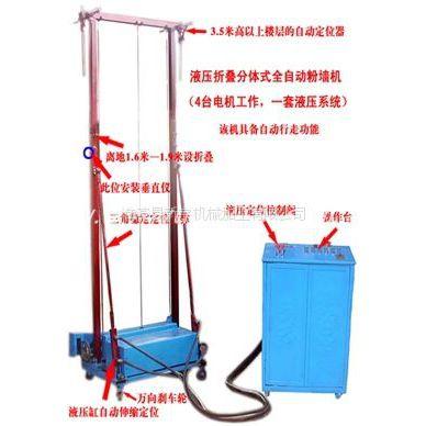 供应液压折叠分体式自动粉墙机(手动液压、自动行走)