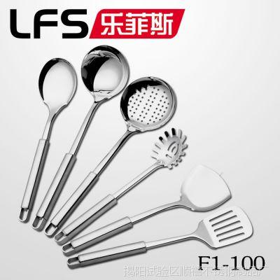 揭阳厨具餐具厨房用品厂家批发 1厘钢柄方孔不锈钢厨具批发