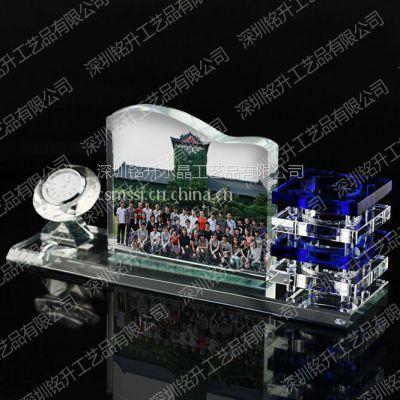 水晶照片纪念摆台定做,定做高档水晶聚会纪念礼品,水晶办公礼品摆台定制