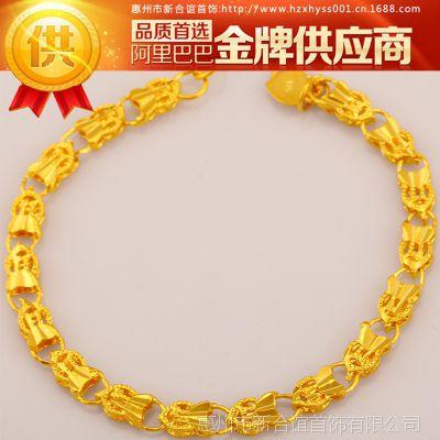 【爆款】纯黄铜镀真金女士手链  仿真首饰批发 江湖热销新产品