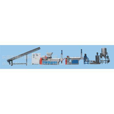 上海专业供应德科双轴两阶水环热切塑料造粒机、抽粒机、颗粒机型号DKSJ-160/140