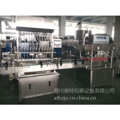 郑州厂家 AT-L12高精度八宝粥玻璃水全自动液体灌装机