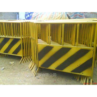 中山公路小区划线工程标线 江门市施工铁马 防撞围栏铁马