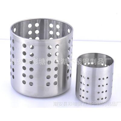 厨房用品 适合放置各种刀叉勺筷子的不锈钢厨具架 餐具筒 筷笼