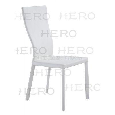 供应腾森家具金属全包软皮PU餐椅3046
