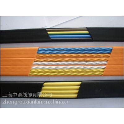 上海中柔厂家供应TVVB电梯专用带钢丝电源随行耐磨扁型复合网线