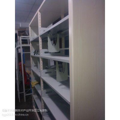 供应新疆地区图书馆双面书架 钢制双面书架厂家直销