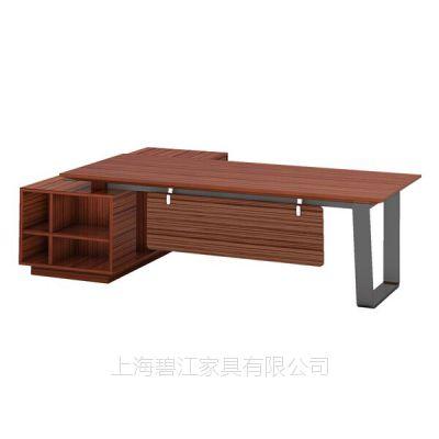 上海办公家具2.5m斑马系列实木大班台 钢架简约老板桌EX-41-D25