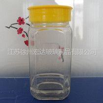 供应供应大八角瓶,蜂蜜玻璃瓶