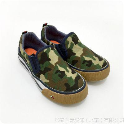 批发美国大牌T*mmy春秋新款英伦范男童迷彩帆布鞋潮童休闲鞋