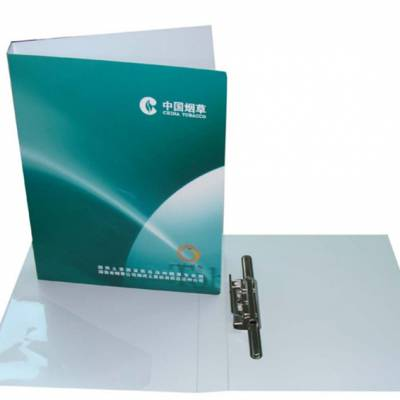 万顺特惠 双面彩色印刷文件夹 PP长押式资料夹 展业文件册