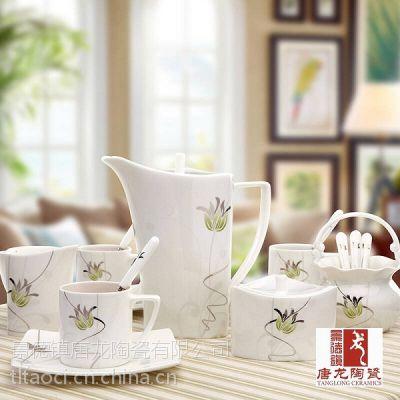 景德镇千火陶瓷厂家供应咖啡具咖啡具套装