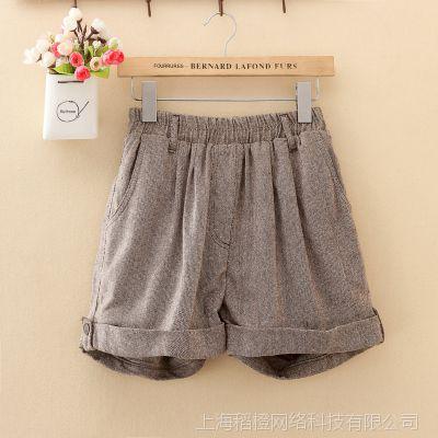外贸原单批发尾货女士冬季韩版修身卷边裤靴子尼龙短裤15S153A