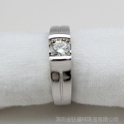 精品钻戒 第三代SONA钻 I-J色精工925银戒指可以定做莫桑石
