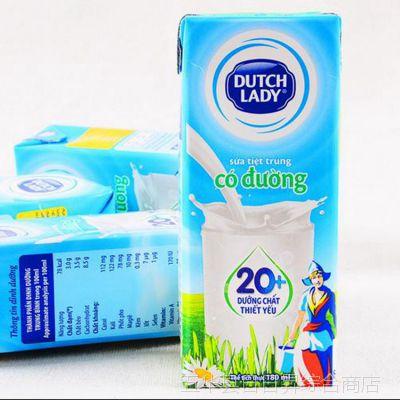 批发泰国进口子母奶儿童装牛奶原味180毫升1箱*48盒