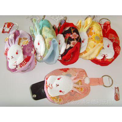 厂家直销正版招福系列日本和风招财猫玉兔钥匙包/钥匙扣