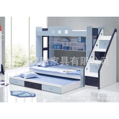 供应广州新款子母床 上下铺儿童床 木质高低幼儿多功能床 儿童子母床