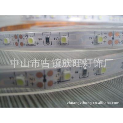 供应24V/12V 3528 60P 白板 套管防水LED贴片灯带 软灯条 酒店工程灯