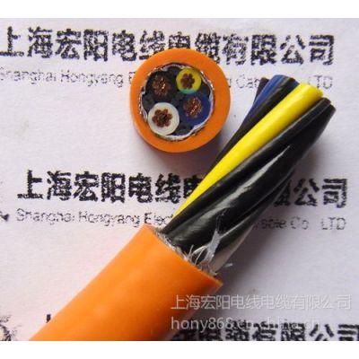 供应上海宏阳屏蔽拖链电缆 移动拖拽软电缆 机械设备电源线 FLEX型号电缆线