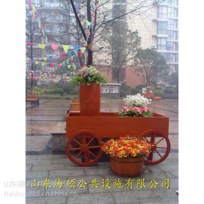 供应山东东营淄博滨州实木优质花箱可定制18553697716