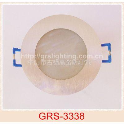 厂家供应 优质铝 磨砂玻璃 嵌入式筒灯天花灯射灯