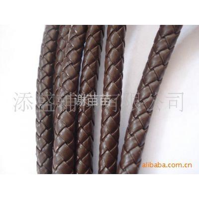 供应PU编织绳,1CM6股PU皮革编织绳,4股/6股/8股编织圆绳
