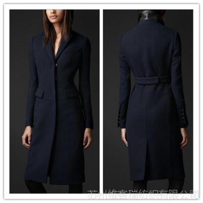 2013B家新款毛呢外套  修身切斯特大衣 搭配铆钉装饰皮质领座
