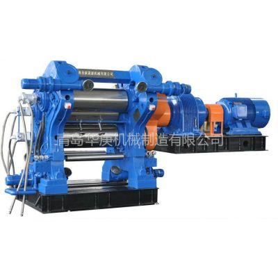 供应二手三辊压延机橡胶机械生产设备挤出机精炼机胶片冷却线青岛华庚